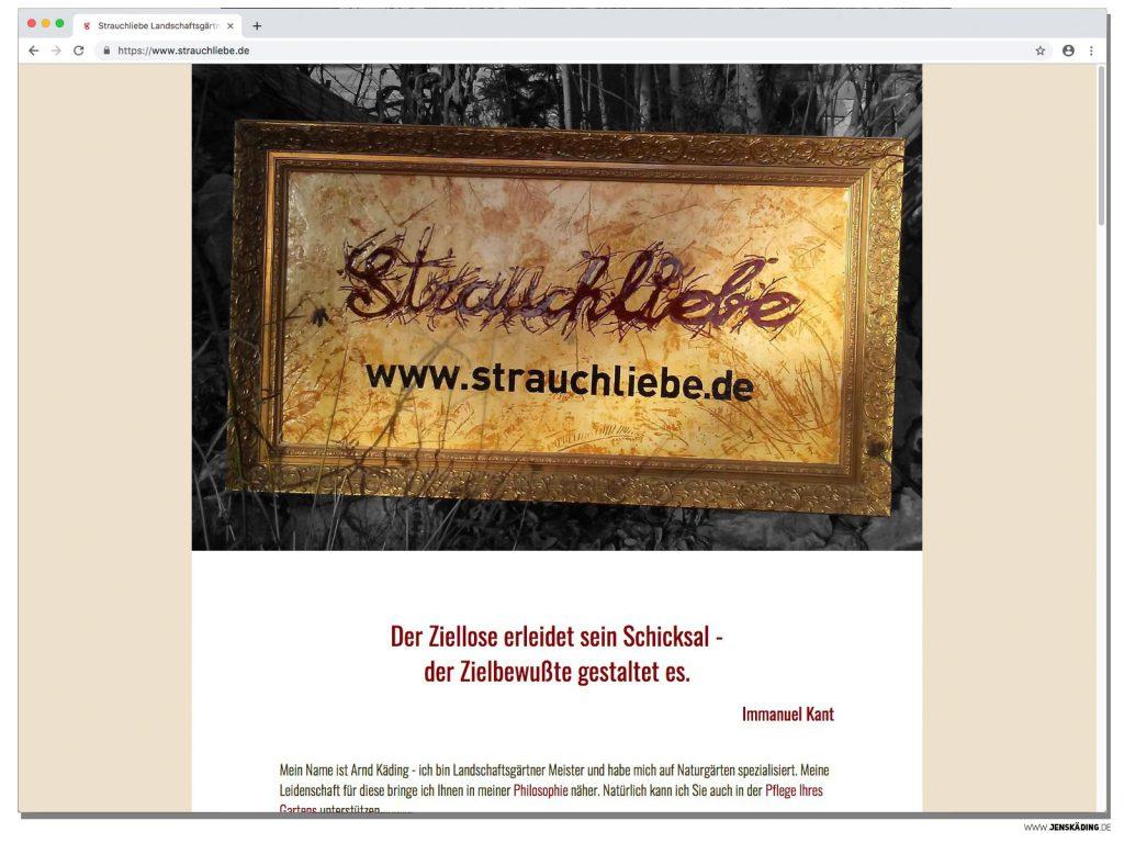 Strauchliebe Landschaftsgärtner Internetseite